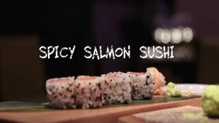 FOODi.e Plates: Spicy Salmon Sushi Recipe