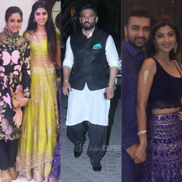 Sridevi, Khushi Kapoor, Shilpa Shetty, Raj Kundra, Suniel Shetty, Anupam Kher, Neetu Singh Kapoor, Madhavan, Shilpa Shetty's Diwali bash, bollywood, entertainment