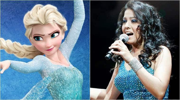 Sunidhi Chauhan, Frozen, Elsa, Sunidhi Chauhan Frozen, Sunidhi Chauhan Elsa, Sunidhi Chauhan Elsa Voice, Sunidhi Chauhan Dubs For Elsa, Entertainment news