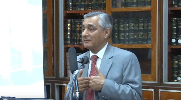 FILE: Justice T S Thakur at Inauguration of E-Library at SCBA Library. (Source: YouTube screen-grab)