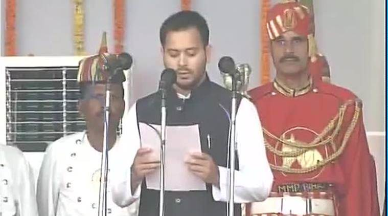 Tejaswi Yadav talking about making Bihar a corruption free state with zero tolerance approach towards it.