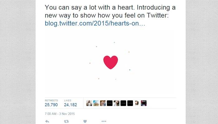 Twitter Ditches Favourites For Likes As It Replaces Stars With