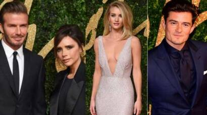 David-Victoria Beckham, Kate Beckinsale, Orlando Bloom, Rosie Huntington-Whiteley at their stylish best at BFAs