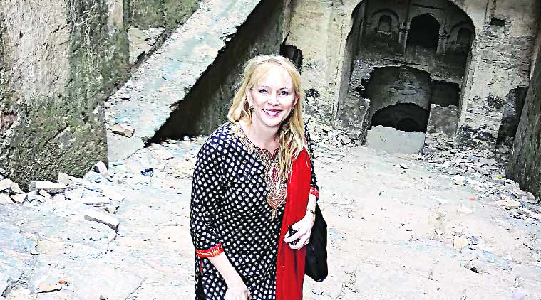 Victoria Lautman, chicago journalist victoria lautman, fatehpur fort, stepwells , INTACH, fatehpur fort architecture, heritage of india, indian heritage, talk, indian express