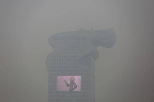 Sushma Swaraj, Nawaz Sharif, Beijing Pollution, China Pollution, Red Alert For Pollution in Beijing, Sushma Swaraj Nawaz Sharif, Swaraj meets Sharif, Top Frames, Indian Express, Top Frames pics