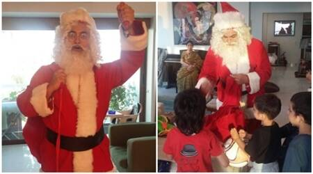 Aamir Khan, Aamir Khan Santa, Merry Christmas, Aamir Khan turns Santa, Aamir Santa Claus, Aamir Khan Santa Suit, Aamir Khan Merry Christmas, Aamir Khan X-mas, Entertainment news