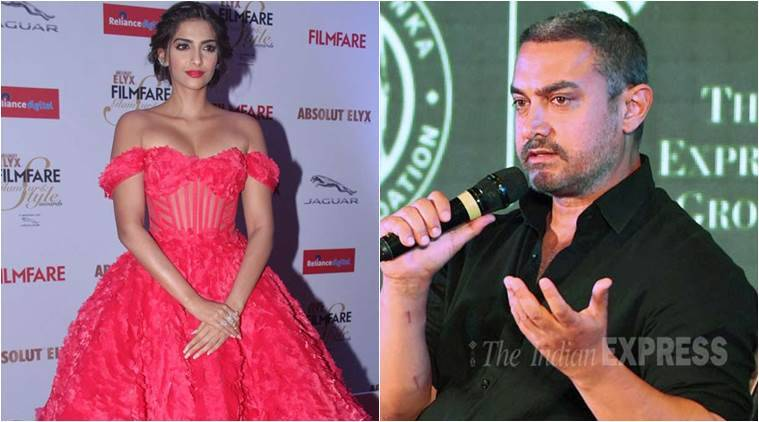 Aamir Khan, Aamir Khan Intolerance, Sonam Kapoor, Aamir Khan on intolerance, Aamir Khan at RNG Awards, Aamir Khan Ramnath Goenka Awards, Entertainment news