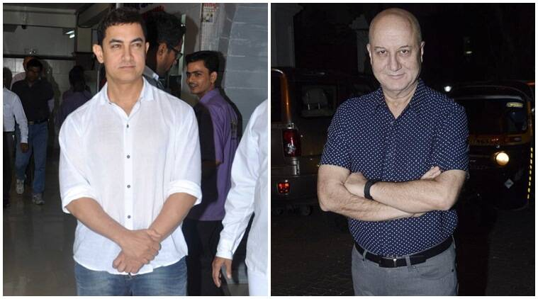 aamir khan, anupam kher, aamir anupam kher, aamir khan news, aamir khan controversies, anupam kher movies, anupam kher news, anupam kher latest news, anupam kher controversies, entertainment news, bollywood news