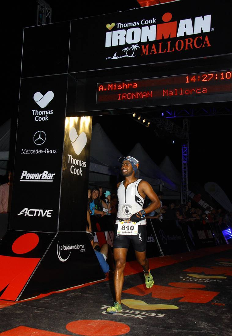 Abhishek Mishra, Abhishek Mishra Ironman, Abhishek Mishra Mallorca ironman, Indians in Ironman, Indians in Ironman, Mallorca Ironman, Abhishek Mishra athlete