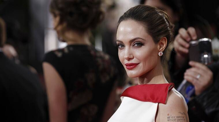 Angelina Jolie at 69th Annual Golden Globe Awards in Los Angeles