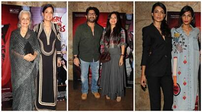 Waheeda Rehman, Arshad Warsi, Sarah Jane watch 'Angry Indian Goddesses'