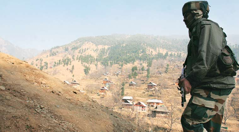 File photo of an army personnel on patrol.