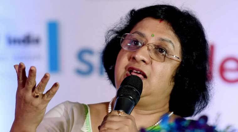 State Bank of India chairman Arundhati Bhattacharya.