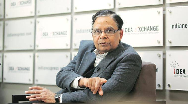 NITI Aayog Vice-Chairman Arvind Panagariya at the Idea Exchange. (Express Photo by: Tashi Tobgyal)