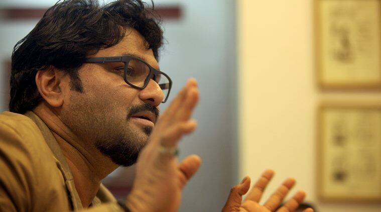 Babul Supriyo, MP in Lok Sabha from Asansol, at the Indian Express idea exchange in New Delhi on Feb 3rd 2015. Express photo by Ravi Kanojia.