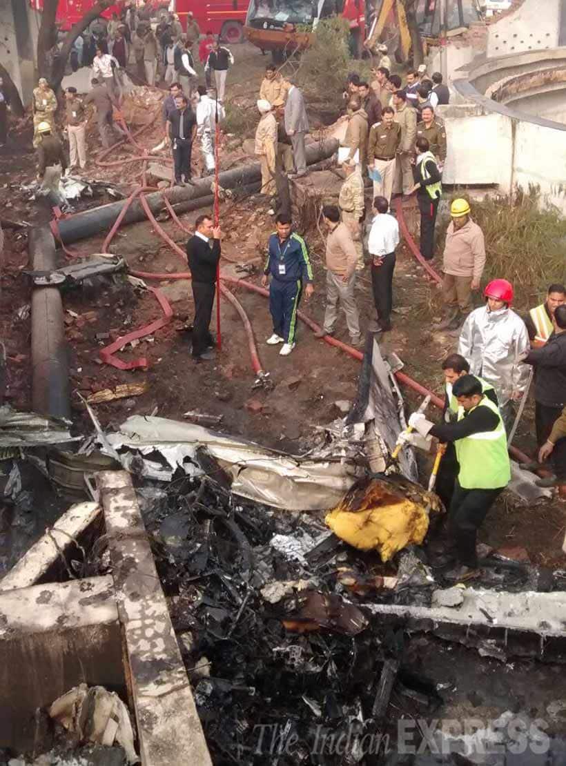 BSF, plane crash, BSF plane, BSF plane crash, Delhi plane crash, dwarka plane crash, bsf plane crash photos, delhi plane crash photos, delhi crash photos, delhi news, india news
