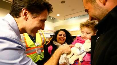 canada, refugee, syrian refugee, syrian refugee in canada, canada airport, toronto airport refugees, migrants, Syrian migrants, canada prime minister, PM of canada, Prime Minister Justin Trudeau, PM justin, justin and syria, airport refugees, canada PM photos,
