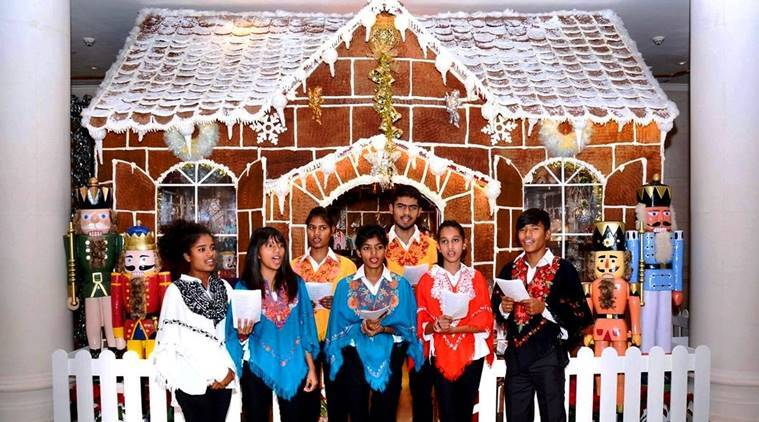 The underprevileged children's choir peforms at the Leela Palace hotel in Delhi, just ahead of Christmas.