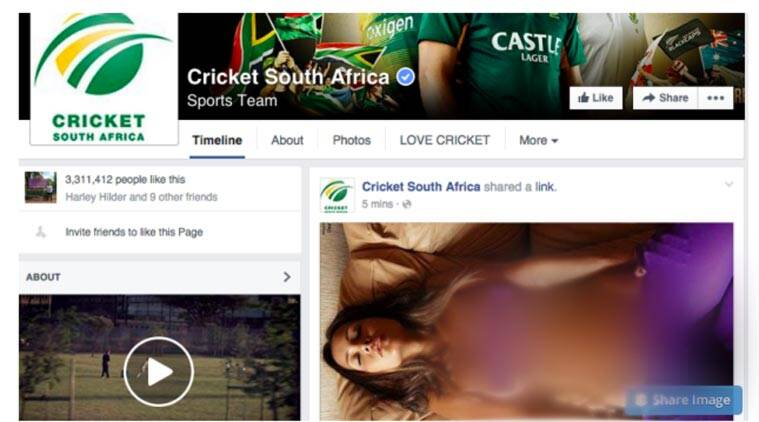 Cricket South Africa, CSA facebook, South AFrica facebook page, South Africa team, adult content CSA, CSA adult content, sports news, sports
