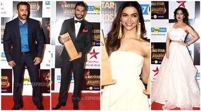 salman khan, sonam kapoor, deepika padukone, ranveer singh, big star entertainment awards, big star awards, big star 2015 awards, big star entertainment awards winners, big star winners, Badlapur, Bajrangi Bhaijaan, PIKU, Tanu Weds Manu Returns, Tisca Chopra, Deepak Dobriyal, Amitabh Bachchan, Bhumi Pednekar, Harshali Malhotra, , Armaan Malik, Palak Mucchal, entertainment