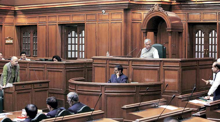 Delhi Assembly photo for representational purpose.  (Express Photo by Amit Mehra)