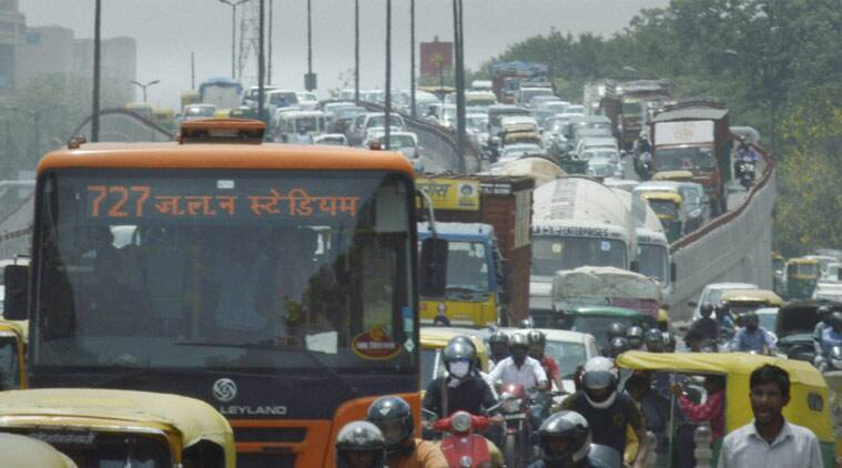 FILE- Heavy traffic jam near AIIMS in New Delhi recently. In a move to curb pollution, the Delhi government on Friday proposed a 'odd/even' number formula for cars. The move is planned to be rolled out from January 1, 2016. (Source: PTI)