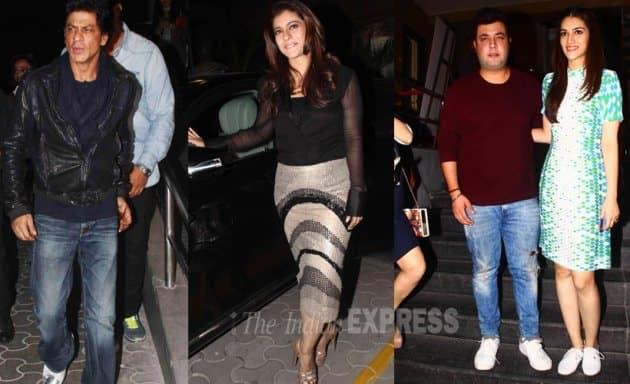 Dilwale, SRK, Shah rukh Khan, Kajol, Kriti Sanon, Varun Dhawan, Varun Sharma, Dilwale premiere pics