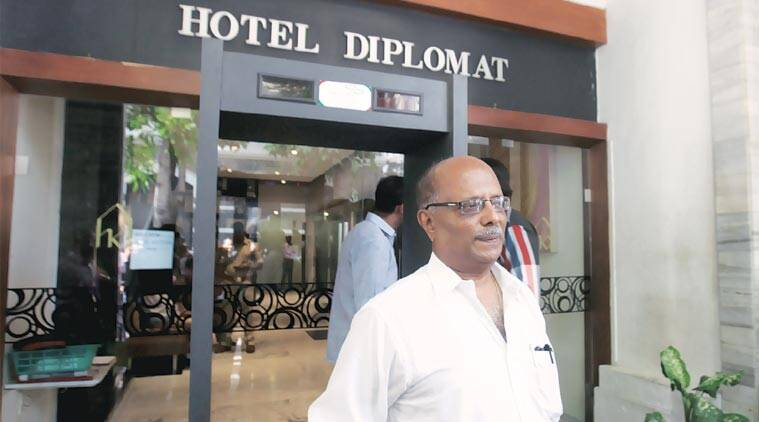 Balakrishnan at Hotel Diplomat Wednesday. (Express Photo by: Vasant Prabhu)