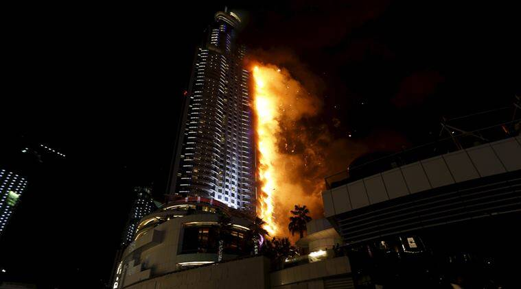 dubai, dubai fire, Burj Khalifa, Burj Khalifa Fire, Dubai fire, happy new year, 2016 fireworks, New Year 2016, world news, latest news