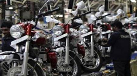 royal enfield, royal enfield production, royal enfield production in chennai, enfield production resumes, chennai flood