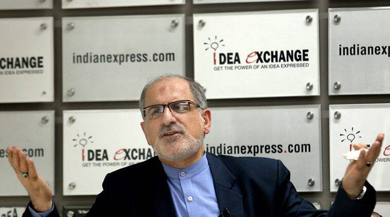 Gholamreza Ansari, Ambassador of the Islamic Republic of Iran to India at the Indian Express idea exchange in New Delhi on April 20th 2015. Express photo by Ravi Kanojia.