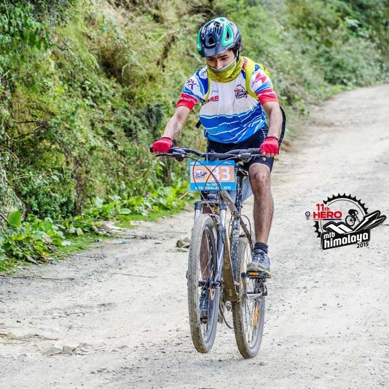 The writer on a Giant Revel at the MTB Himalaya 2015. (Source: HASTPA)