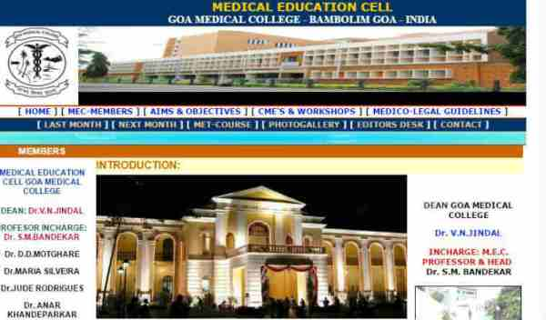 GMCH, located at Bambolim near Panaji, is Asia's oldest medical college that was commissioned during the Portuguese rule