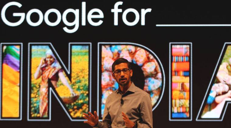 Google, Sundar Pichai, India, Google CEO Sundar Pichai, Sundar Pichai in Delhi Sundar Pichai at SRCC, Google Project Loon, Internet, Free WiFi, WiFi at railway stations, Ravi Shankar Prasad, technology news