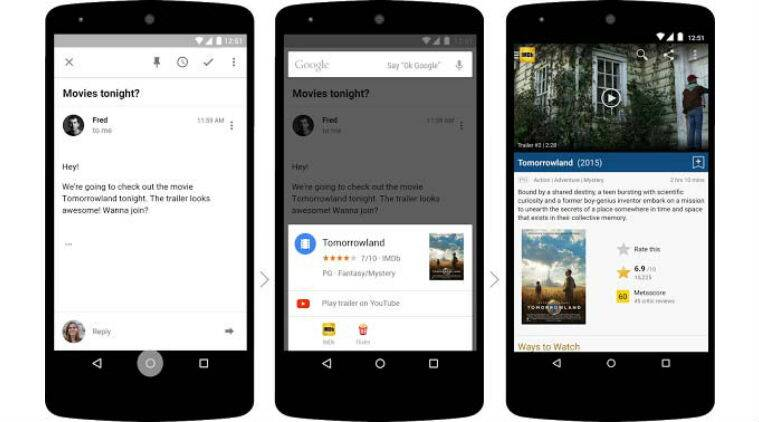 Google Now on Tap is a new search feature that gives contextual data based on whatever is there on the screen