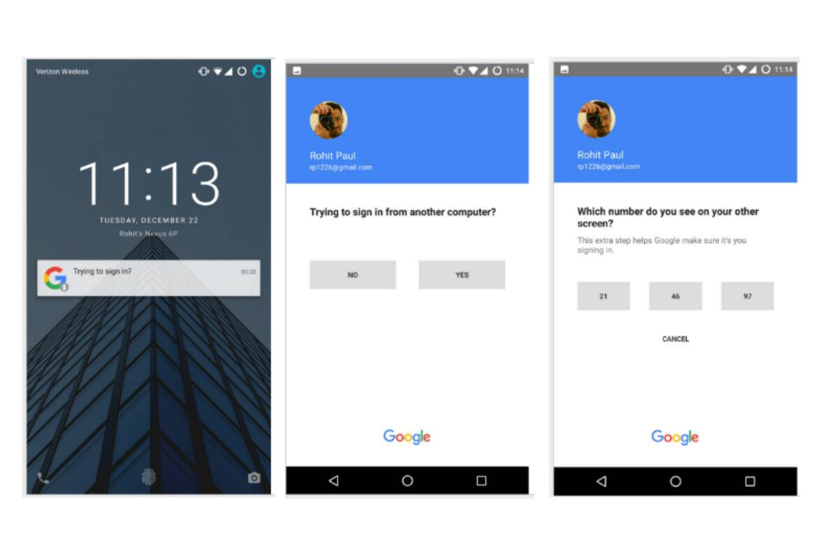 Google working on a 'password free' login method for its accounts