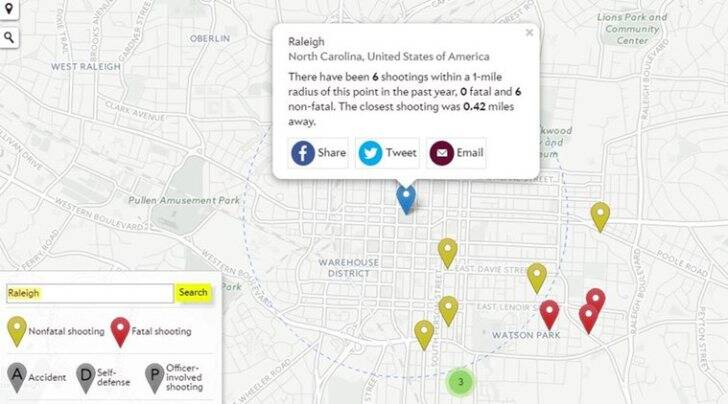 Has There Been A Shooting Near You This Interactive Map Will Tell - Been there map