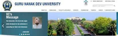 Guru Nanak Dev University examsrescheduled