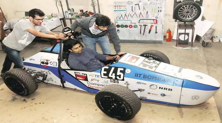 racing car, fast racing car, IIT-B, IIT, technology festival, mumbai news