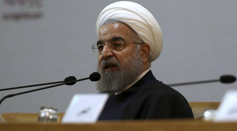 Iranian President Hassan Rouhani speaks during the 29th International Islamic Unity Conference in Tehran, Iran, Sunday, Dec. 27, 2015. (Reuters)
