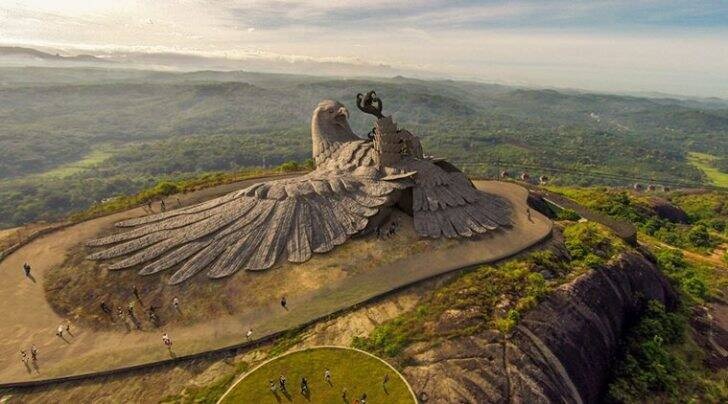 The sculpture modelled on the mythical bird Jatayu in Kollam, Kerala (Courtesy of Jatayu Nature Park)