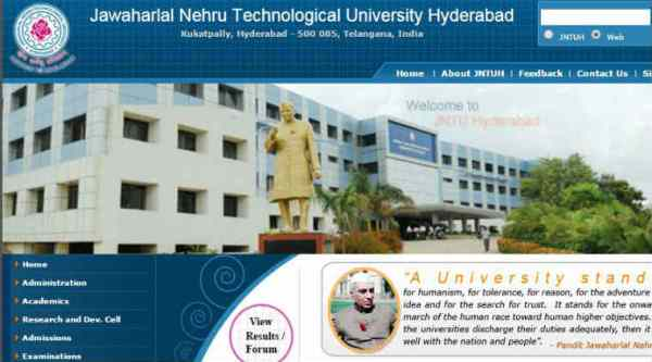 jntu-h b tech reular supplementary results 2015