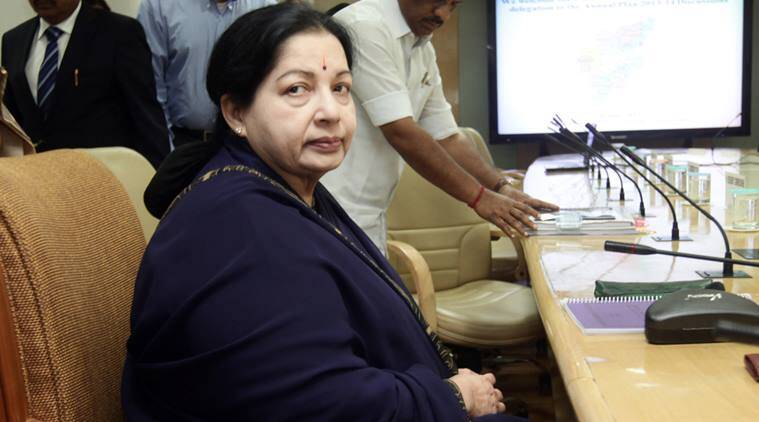 Tamil Nadu Chief Minister J Jayalalithaa during a meeting to finalize the annual plan 2013-14 for the state in New Delhi on Monday. Express photo by Amit Mehra  10 june 2013