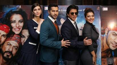 'Dilwale' Shah Rukh Khan, Kajol, Varun, Kriti impress the London crowds