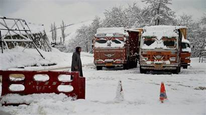 Snowfall in Qazigund