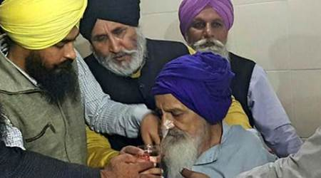 Govt persuades Khalsa to drink water, son wants 'feasting' clip probed
