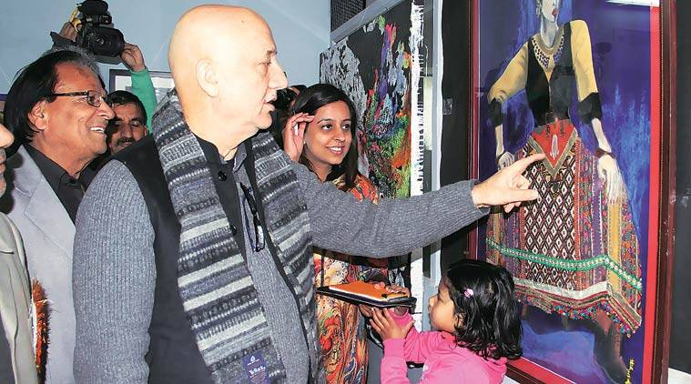 Anupam Kher in Jammu on Saturday. (Source: PTI)