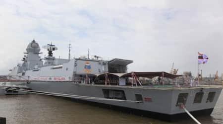 Indian Navy successfully test fires Barak-8 long range missile from INSKolkata