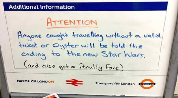 The message spotted at Canonbury station, London/ Twitter