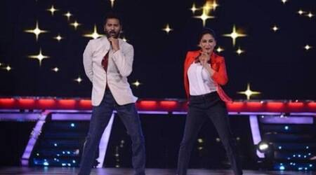 Madhuri Dixit 'scared of dancing' with Prabhudeva